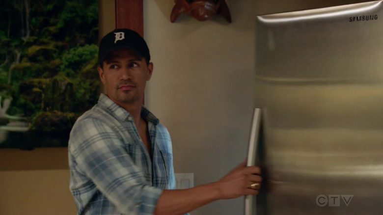 """Samsung Refrigerator Used by Jay Hernandez as Thomas Magnum in Magnum P.I. Season 2 Episode 3 """"Knight Lasts Forever"""" (2019) - TV Show Product Placement"""