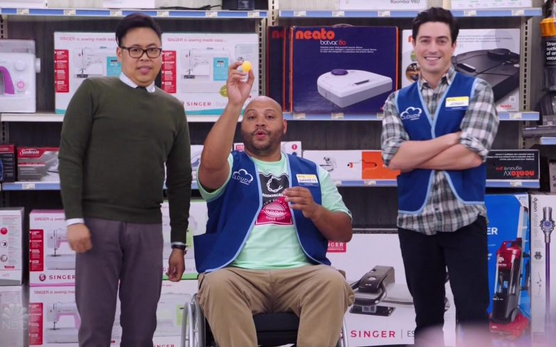 Singer and Neato Robotics in Superstore Season 5 Episode 4 Mall Closing (2019)