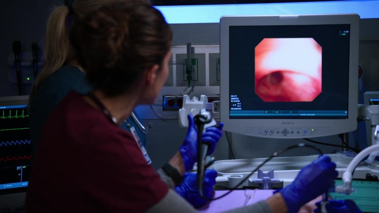 """Sony Monitor in Chicago Med Season 5 Episode 6 """"It's All in the Family"""" (2019) - TV Show Product Placement"""