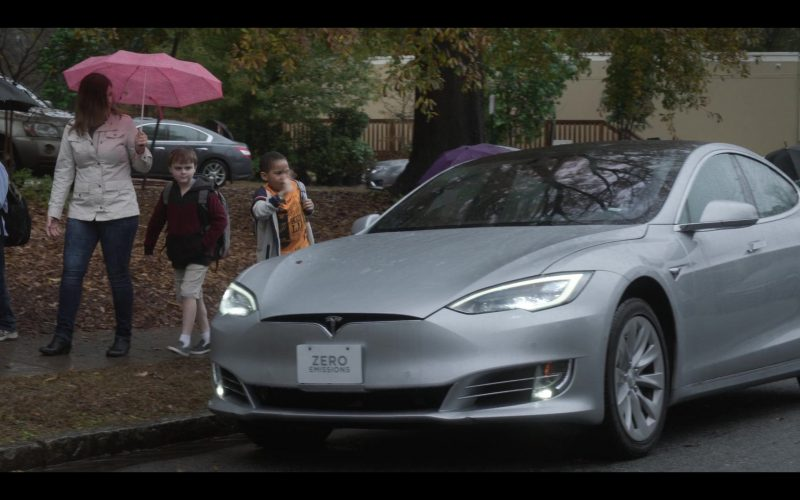 Tesla Model S Car Used by Jason Ritter as Pat in Raising Dion (3)