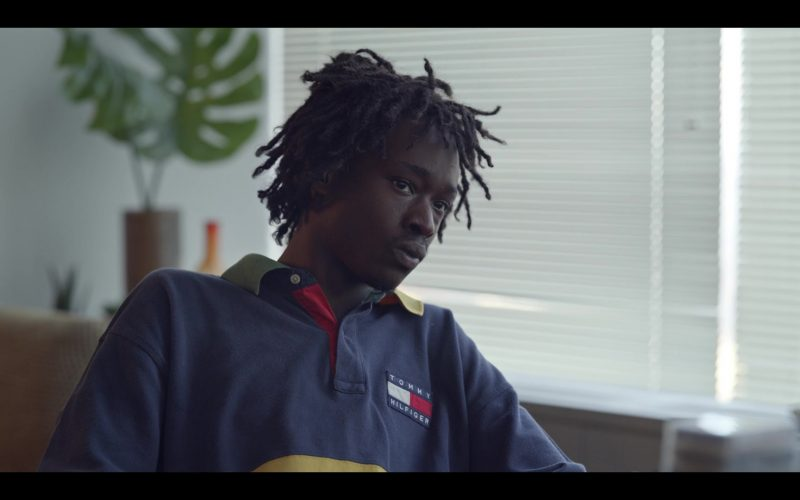 Tommy Hilfiger Blue-Yellow Shirt Worn by Ashton Sanders as Bobby Diggs in Wu-Tang An American Saga (4)
