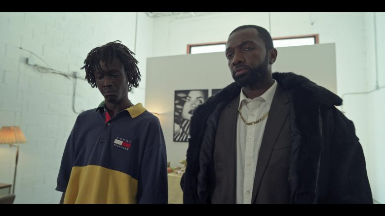 """Tommy Hilfiger Blue/Yellow Shirt Worn by Ashton Sanders as Bobby Diggs in Wu-Tang: An American Saga Season 1 Episode 9 """"I Declare War"""" (2019) - TV Show Product Placement"""