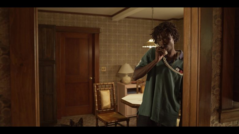 """Tommy Hilfiger Green Shirt Worn by Ashton Sanders as Bobby Diggs in Wu-Tang: An American Saga Season 1 Episode 9 """"I Declare War"""" (2019) - TV Show Product Placement"""
