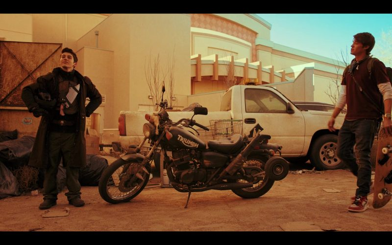 Triumph Motorcycle Used by Gregory Kasyan as Eli Cardashyan in Daybreak Season 1 Episode 2 (1)