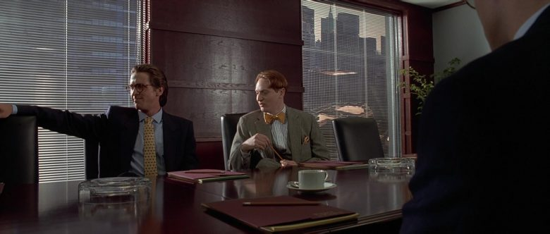 Valentino Suit and Oliver People Eyeglasses Worn by Christian Bale as Patrick Bateman in American Psycho (1)