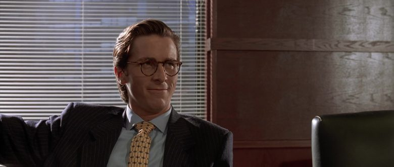 Valentino Suit and Oliver People Eyeglasses Worn by Christian Bale as Patrick Bateman in American Psycho (4)