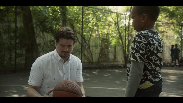 Wilson Basketball Held by Jason Ritter as Pat in Raising Dion - Season 1, Episode 3, Issue #103: Watch Man (2019) - TV Show Product Placement
