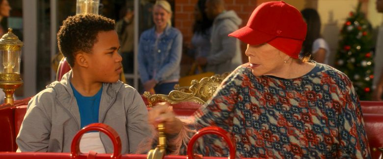 47' Brand Red Cap Worn by Shirley MacLaine in Noelle (2019) - Movie Product Placement