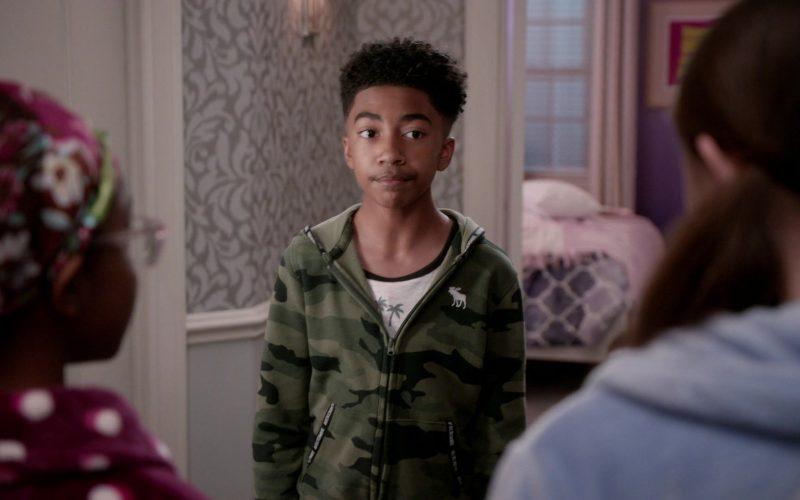 Abercrombie & Fitch Hoodie Worn by Miles Brown as Jack in Black-ish Season 6 Episode 9 (1)