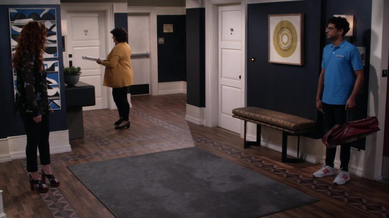 Adidas Men's Sneakers in Will & Grace Season 11 Episode 3 With Enemies Like These (2)