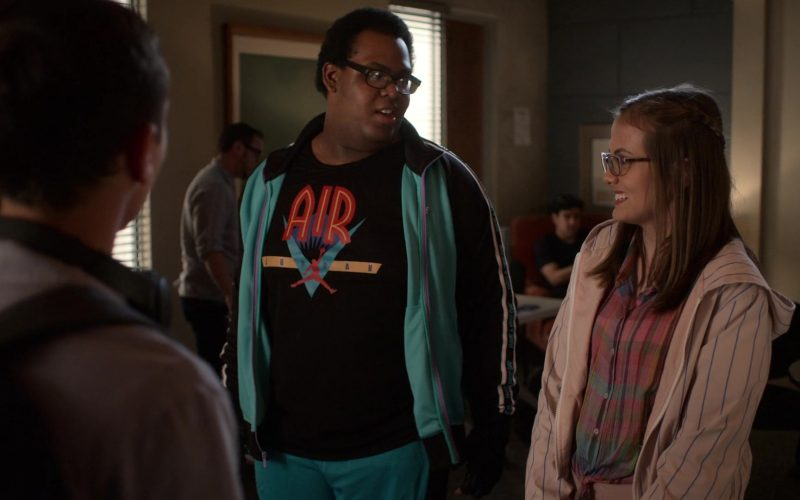 Air Jordan Black T-Shirt in Atypical Season 3 Episode 3 Cocaine Pills and Pony Meat (1)