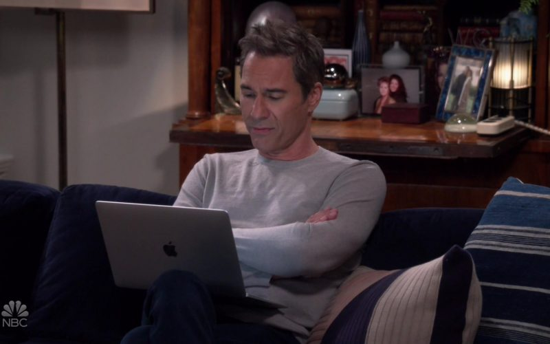 Apple MacBook Laptop Used by Eric McCormack as Will Truman in Will & Grace Season 11 Episode 2 (1)