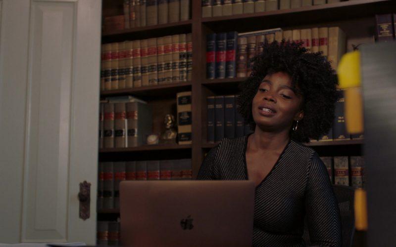 Apple MacBook Laptop Used by MaameYaa Boafo as Briana Logan in Bluff City Law Season 1 Episode 8 (2)