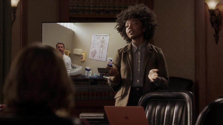 Apple MacBook Laptop Used by MaameYaa Boafo in Bluff City Law Season 1 Episode 7 (3)