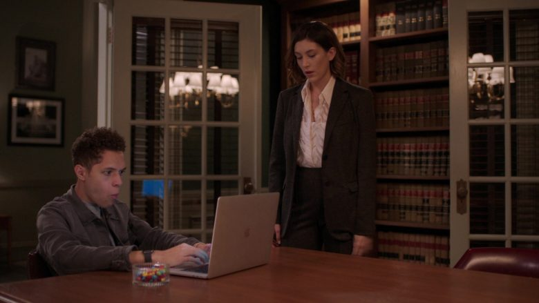 Apple MacBook Laptop Used by Stony Blyden as Emerson in Bluff City Law Season 1 Episode 8 (1)