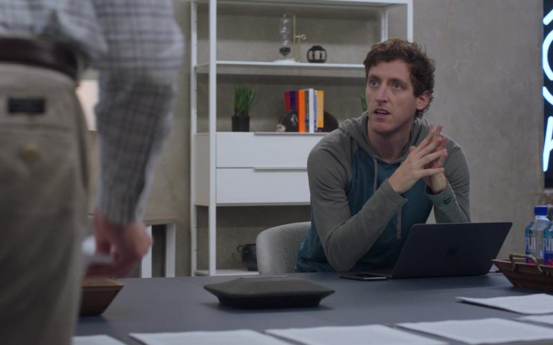 Apple MacBook Laptop Used by Thomas Middleditch as Richard Hendricks and Fiji Water in Silicon Valley Season 6 Episode 3