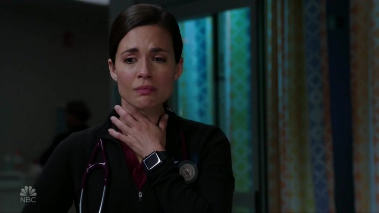 """Apple Watch Worn by Torrey DeVitto as Dr. Natalie Manning in Chicago Med Season 5 Episode 9 """"I Can't Imagine the Future"""" (2019) - TV Show Product Placement"""