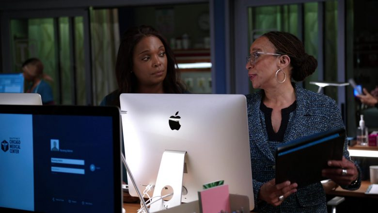"""Apple iMac All-In-One Desktop Computers in Chicago Med Season 5 Episode 7 """"Who Knows What Tomorrow Brings"""" (2019) - TV Show Product Placement"""