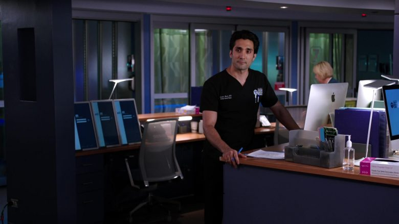 Apple iMac Computer Used by Dominic Rains as Dr. Crockett Marcel in Chicago Med Season 5 Episode 8
