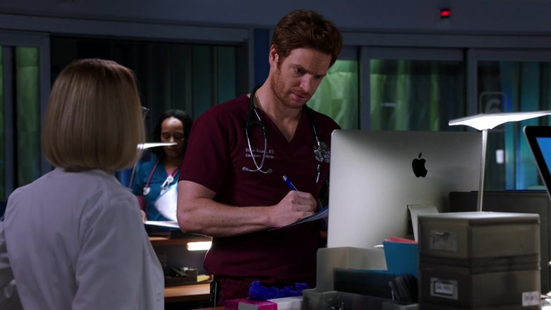 Apple iMac Computer Used by Nick Gehlfuss as Dr. Will Halstead in Chicago Med Season 5 Episode 8