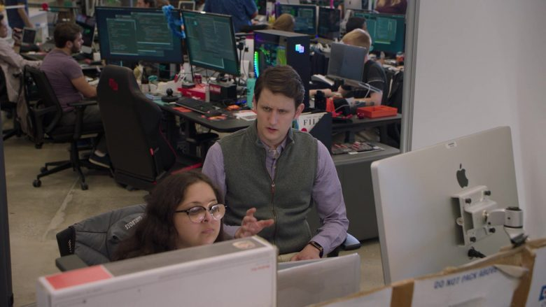 """Apple iMac Computer Used by Zach Woods as  Jared in Silicon Valley Season 6 Episode 4 """"Maximizing Alphaness"""" (2019) - TV Show Product Placement"""