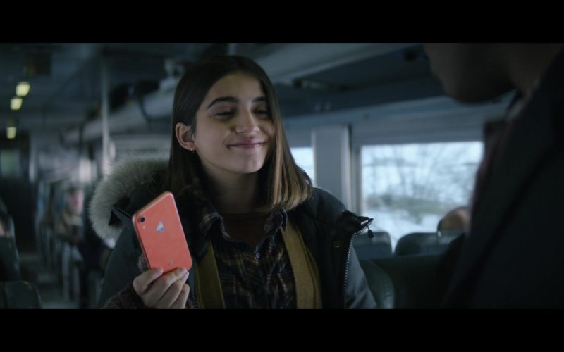 Apple iPhone Orange Mobile Phone in Let It Snow (2019)
