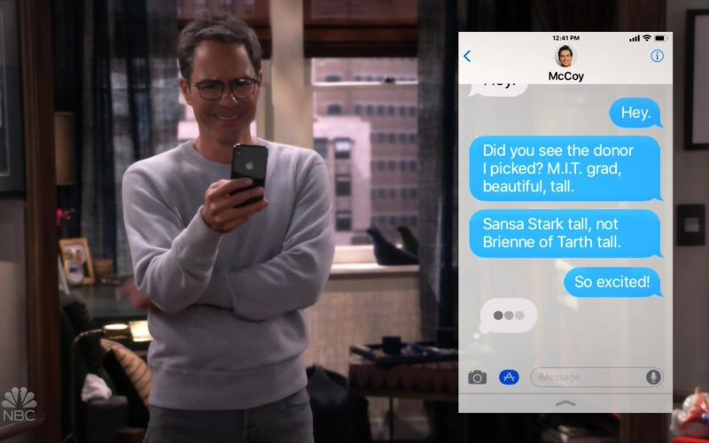 Apple iPhone Smartphone Used by Eric McCormack in Will & Grace