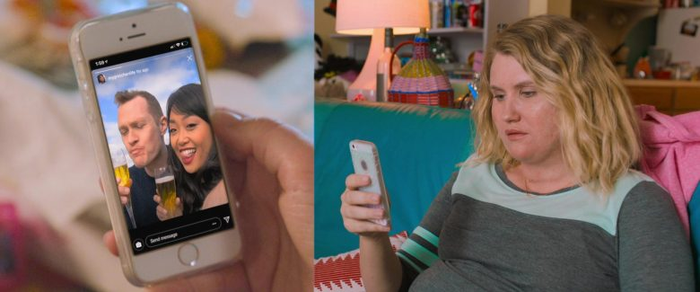 Apple iPhone Smartphone Used by Jillian Bell in Brittany Runs a Marathon (2019) - Movie Product Placement