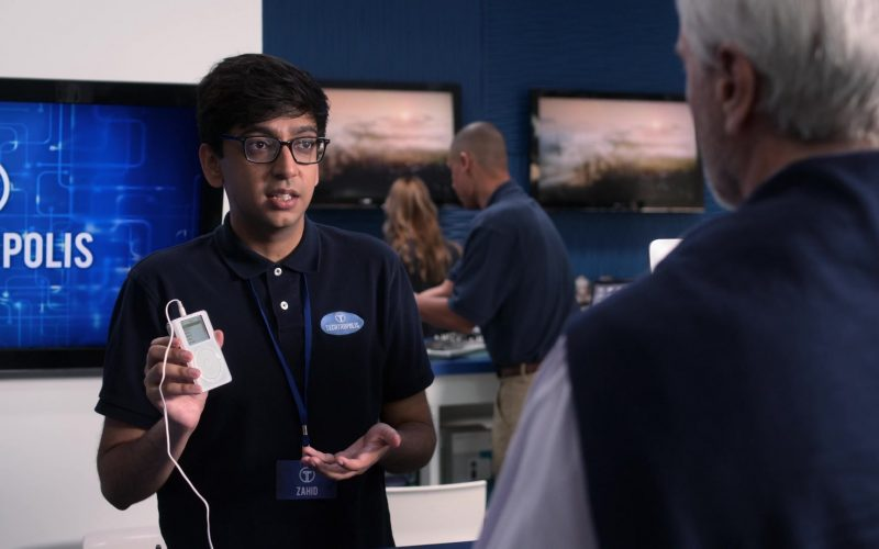 Apple iPod Media Player Held by Nik Dodani as Zahid in Atypical Season 3 Episode 9