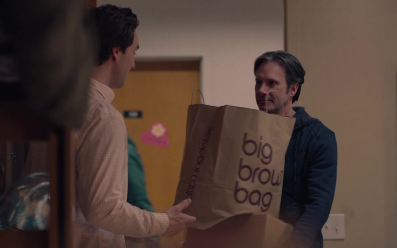 Bloomingdale's Big Brown Bag in Mrs. Fletcher Season 1 Episode 4 Parents' Weekend
