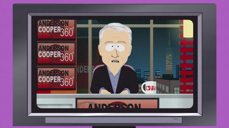 """CNN Anderson Cooper 360° in South Park Season 23 Episode 7 """"Board Girls"""" (2019) - TV Show Product Placement"""