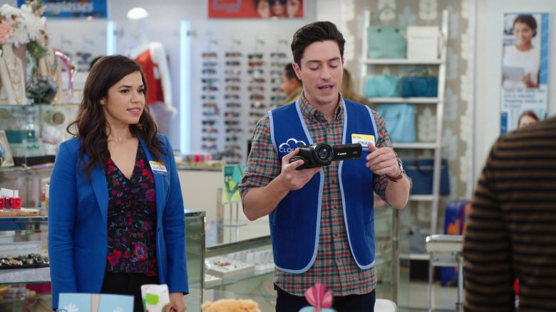 """Canon Camcorder Used by Ben Feldman as Jonah Simms in Superstore: Season 5, Episode 8 """"Toy Drive"""" (2019) TV Show"""