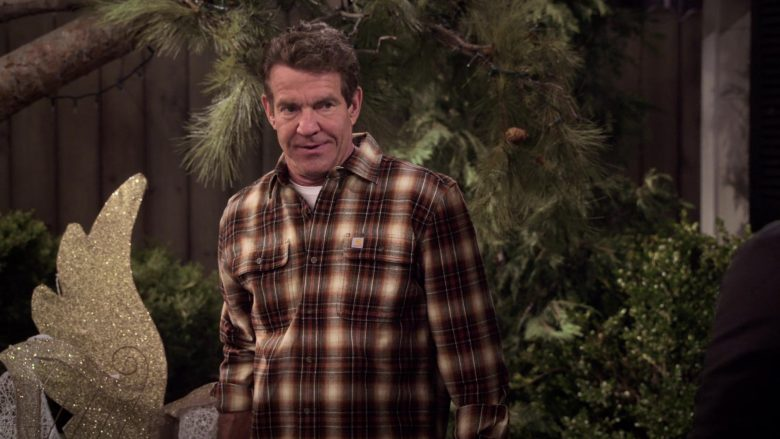"Carhartt Plaid Shirt Worn by Dennis Quaid as Don Quinn in Merry Happy Whatever Season 1 Episode 1 ""Welcome, Matt"" (2019) - TV Show Product Placement"