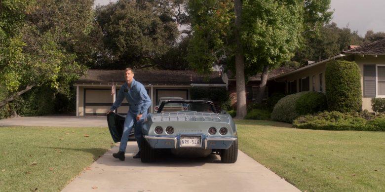 Chevrolet Corvette Convertible Blue Car Used by Joel Kinnaman as Edward Baldwin in For All Mankind