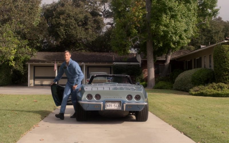 Chevrolet Corvette Convertible Blue Car Used by Joel Kinnaman as Edward Baldwin in For All Mankind