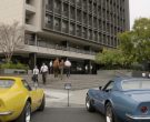 Chevrolet Corvette Yellow and Blue Cars in For All Mankind S...