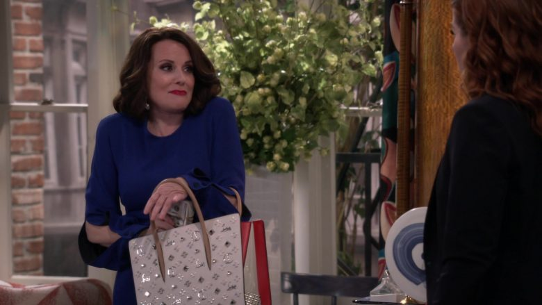"Christian Louboutin Pink Handbag Used by Megan Mullally in Will & Grace Season 11 Episode 3 ""With Enemies Like These"" (2019) - TV Show Product Placement"