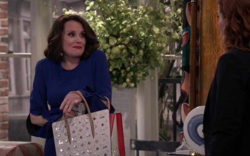 Christian Louboutin Pink Handbag Used by Megan Mullally in Will & Grace Season 11 Episode 3 (8)