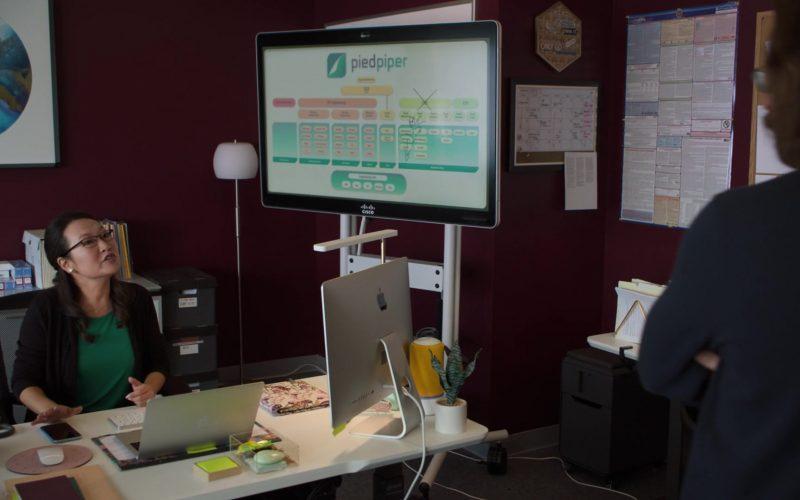 Cisco Monitor, Apple MacBook Laptop and iMac Computer in Silicon Valley Season 6 Episode 2 Blood Money (1)