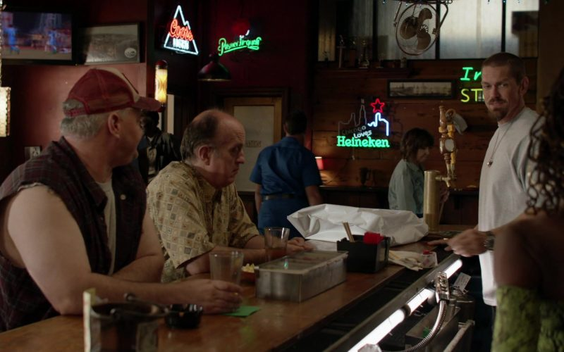 Coors Light and Heineken Beer Neon Signs in Shameless Season 10 Episode 2