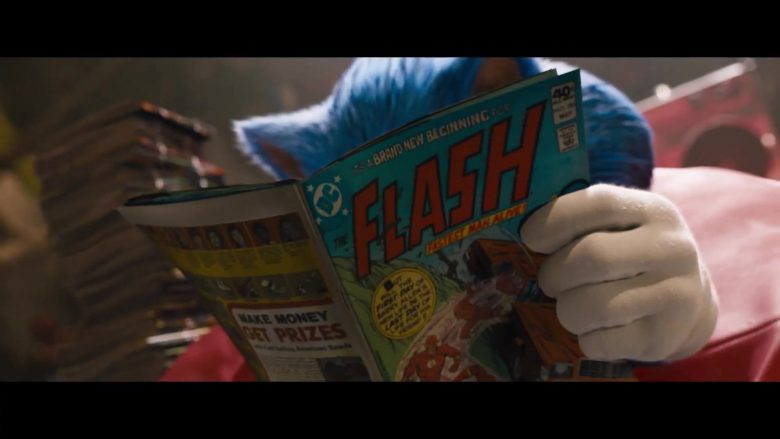 DC Flash Comic Book in Sonic the Hedgehog (2020)