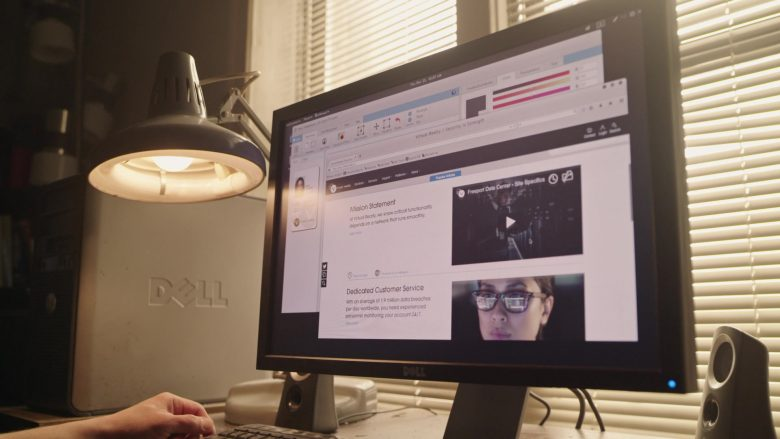 """Dell Monitor and Computer Used by Rami Malek as Elliot Alderson in Mr. Robot Season 4 Episode 5 """"405 Method Not Allowed"""" (2019) - TV Show Product Placement"""