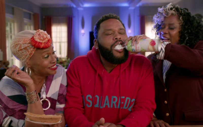 Dsquared2 Red Hoodie Worn by Anthony Anderson in Black-ish Season 6 Episode 8 (1)