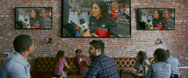 ESPN TV Channel and New Balance Sports Jacket in Brittany Runs a Marathon (2019) - Movie Product Placement