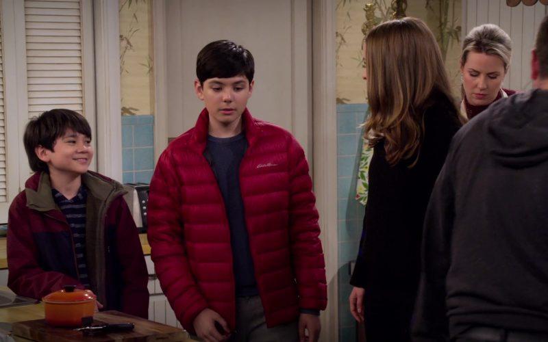 Eddie Bauer Red Jacket Worn by Mason Davis as Sean Quinn Jr. in Merry Happy Whatever Season 1 Episode 1