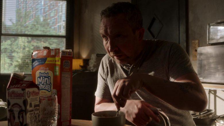 Farmland Milk and Kellogg's Frosted Mini Wheats Enjoyed by Eddie Marsan as Terry in Ray Donovan Season 7 Episode 1 (2)