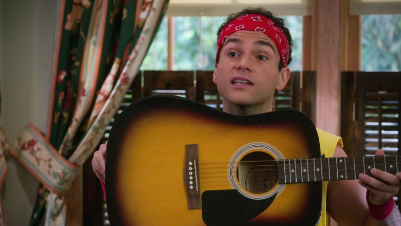 """Fender Guitar Held by Troy Gentile as Barry in The Goldbergs Season 7 Episode 7 """"WrestleMania"""" (2019) TV Show"""