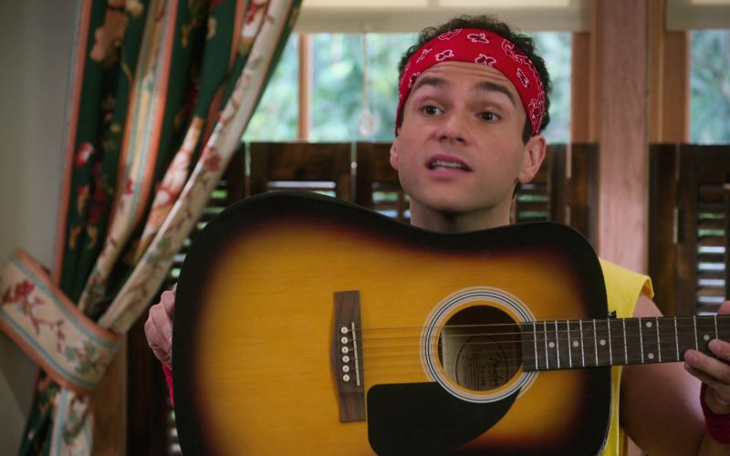 Fender Guitar Held by Troy Gentile as Barry in The Goldbergs Season 7 Episode 7
