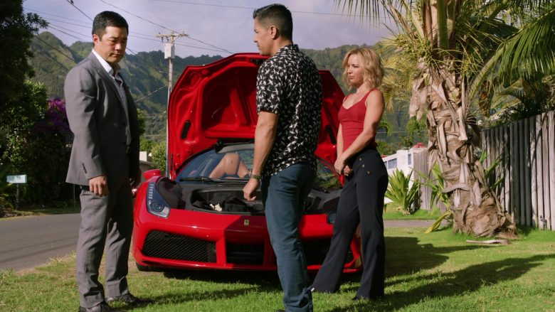 Ferrari Convertible Car Driven by Jay Hernandez as Thomas in Magnum P.I. Season 2 Episode 8 (11)