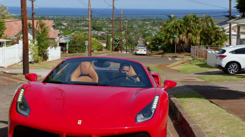 Ferrari Convertible Car Driven by Jay Hernandez as Thomas in Magnum P.I. Season 2 Episode 8 (3)
